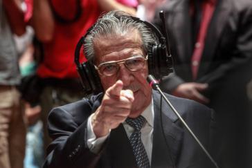 Ríos Montt während des Prozesses im Jahr 2013