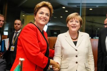 Rousseff und Merkel beim Gipfeltreffen der Europäischen Union und der Gemeinschaft der lateinamerikanischen und karibischen Staaten (Celac) am 10. Juni 2015 in Brüssel