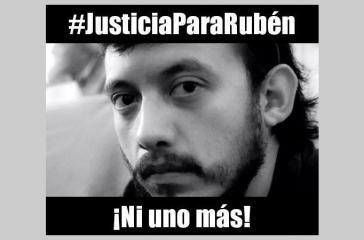 """Die Kampagne """" Gerechtigkeit für Rubén  - nicht ein einziger mehr"""" protestiert gegen die Morde an Journalisten in Mexiko"""