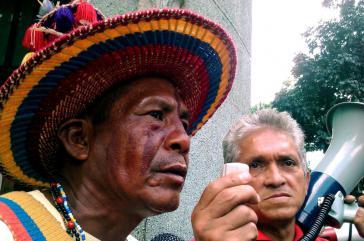 Sabino Romero bei einer Kundgebung im November 2012