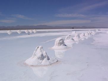 Voll mit Lithium: der Salar de Uyuni in Bolivien