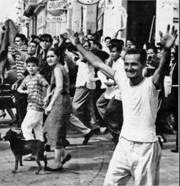 Empfang der Rebellen am 1. Januar 1959 in Santiago de Cuba