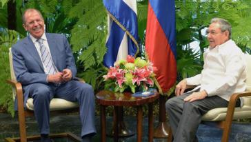 Russlands Außenminister Lawrow und Präsident Castro