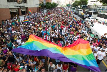 Demonstration für die LGBT-Rechte in Caracas