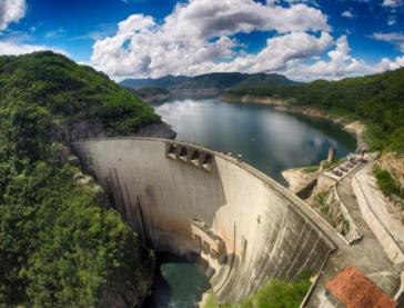 Stausee zur Stromgewinnung aus Wasserkraft in Honduras