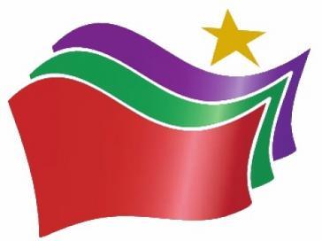 """Logo der griechischen """"Koaltion der radikalen Linken"""" (Synaspismos Rizospastikis Aristeras – Syriza)"""