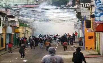 Ausschreitungen im Bundesstaat Táchira vergangene Woche