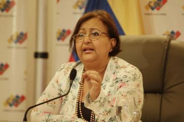 CNE-Präsidentin Tibisay Lucena gab die Regelungen für den Wahlkampf bekannt