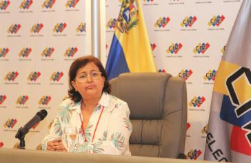 Trat Kritikern des venezolanischen Wahlsystems entgegen: CNE-Präsidentin Tibisay Lucena