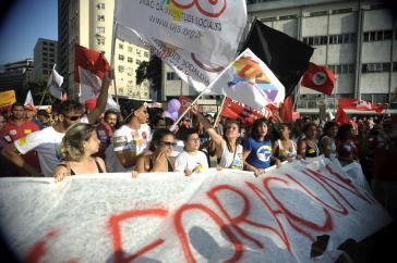 Demonstration gegen das Amtsenthebungsverfahren am 16. Dezember in Rio de Janeiro
