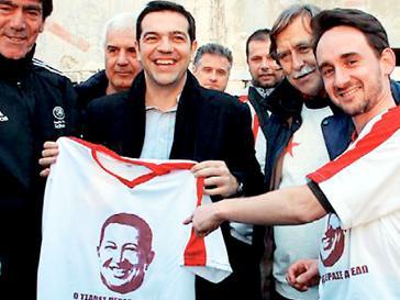 Alexis Tsipras bei seinem Venezuela-Besuch im Jahr 2013