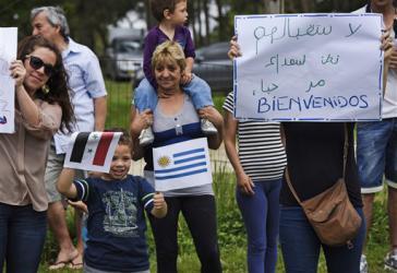 """""""Bienvenidos"""": In Urugay werden syrische Flüchtlinge willkommen geheißen"""