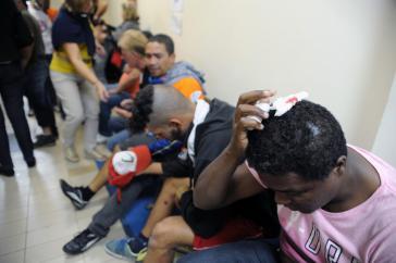 Zahlreiche Verletzte mussten im Krankenhaus behandelt werden
