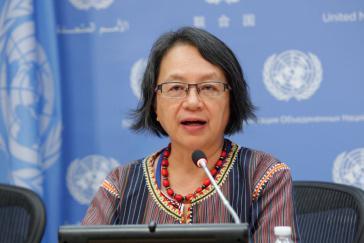 Victoria Tauli-Corpuz, Kankanaey-Igorot Indigene von den Philippinen, UN-Sonderberichterstatterin für die Rechte indigener Völker