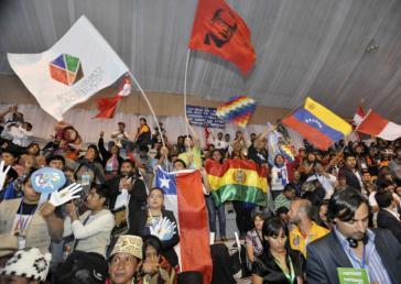 Teilnehmer am zweiten Völkergipfel zum Klimawandel