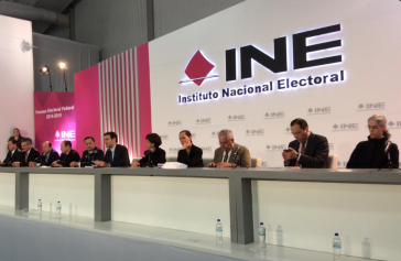Pressekonferenz der Wahlbehörde Mexikos, INE