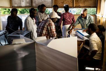 Wahllokal in Delmas, Haiti