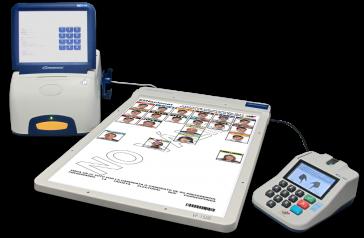 Neueste Technologie: Wahlmaschine, elektronische Wahltafel und Gerät zur biometrischen Identifizierung