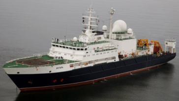 """Das russische Schiff """"Yantar"""""""