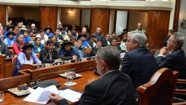 Im bolivianischen Parlament stellen Frauen die Mehrheit der Abgeordneten