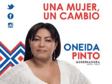 """""""Eine Frau, ein Wechsel"""": Wahlslogan von Gouverneurin Oneida Pinto"""
