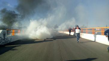 Auf der Flucht vor Schüssen und Tränengas