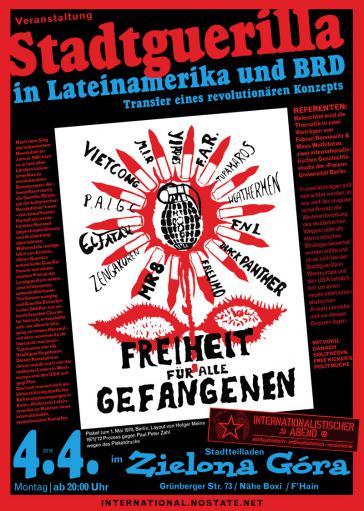 Plakat zur Veranstaltung mit image von Plakat von Holger Meins