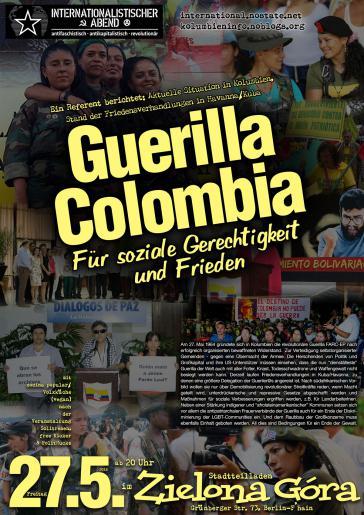Guerilla Colombia: Plakat zur Veranstaltung