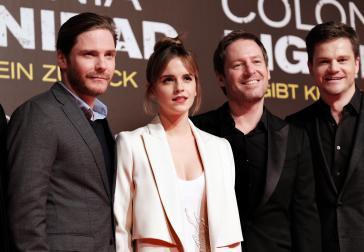 Hauptdarsteller Daniel Brühl, Emma Watson, Regisseur Florian Gallenberger und Produzent Benjamin Herrmann