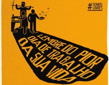 Plakat der Kampagne #SomosLivres (Wir sind frei)