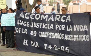 Überlebende des Massakers und Opferangehörige fordern seit 31 Jahren Gerechtigkeit