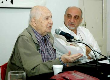 Alfredo Bauer bei einer Veranstaltung anlässlich seines 90. Geburtstages am 14. November 2014 im Zentrum für marxistische Studien und Bildung (Cefma) in Buenos Aires