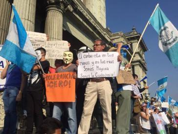 Protestkundgebung in Guatemala-Stadt am vergangenen Samstag