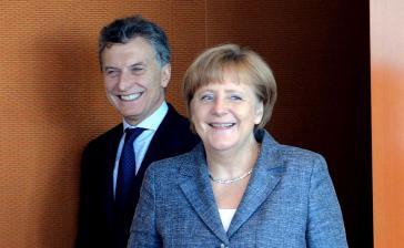 Merkel mit Argentiniens Präsident Mauricio Macri. Er will schnellstmöglich den Freihandelsvertrag zwischen Mercosur und EU abschließen