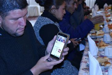 """""""No Racismo"""" ist der Name der App für Mobiltelefone"""