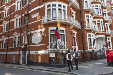 Die Botschaft von Ecuador in London: Hier lebt Julian Assange seit 2012 in politischem Asyl