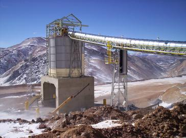 Die von Barrick Gold betriebene Mine Veladero in Argentinien  baut  in einem geschützten Gletschergebiet unter Einsatz von Zyanid  unter freiem Himmel Gold ab