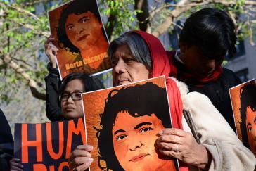 Protest nach dem Mord von Berta Cáceres in Honduras
