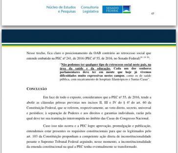 Schlussfolgerungen der Juristen zur Haushaltssperre in Brasilien