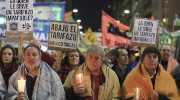 """Kerzenmarsch"" in Buenos Aires am 14. Juli"