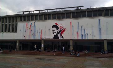 """Die Bibliothek """"Camilo Torres"""" der Universidad Nacional de Colombia in Bogotá"""