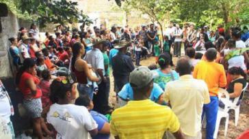 Im Zentraldorf von Puerto Claver befinden sich aktuell circa 200 vertriebene Familien