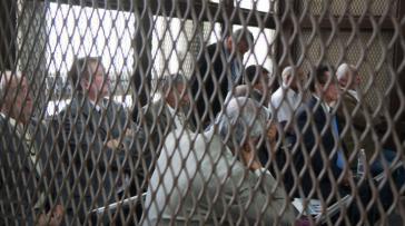 Die angeschuldigten Ex-Militärs im Fall Creompaz bei den ersten Anhörungen