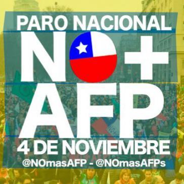 Logo der Kampagne, die eine Abschaffung des privaten chilenischen Rentensystems
