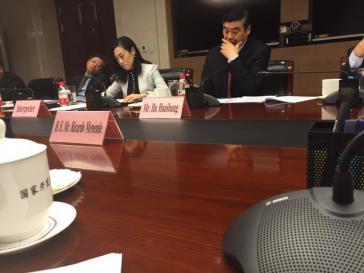 Bei den Beratungen in China