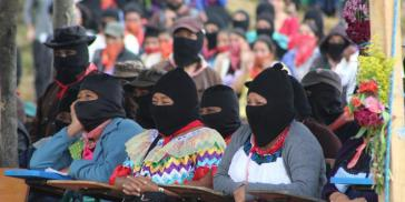 Zapatistas beim Fünften Nationalen Indigenen Kongress in Chiapas, Mexiko