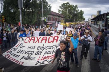 Demonstrationszug am Samstag in Mexiko-Stadt