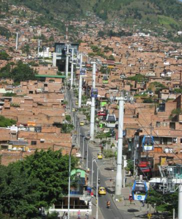 Stadtviertel Comuna 1 in Medellín