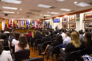 Anhörung beim Interamerikanischen Gerichtshof für Menschenrechte bei seiner 116. Sitzung in Costa Rica