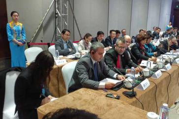 Jorge Luis Perdomo bei seinem Beitrag auf der III. Weltinternetkonferenz in China